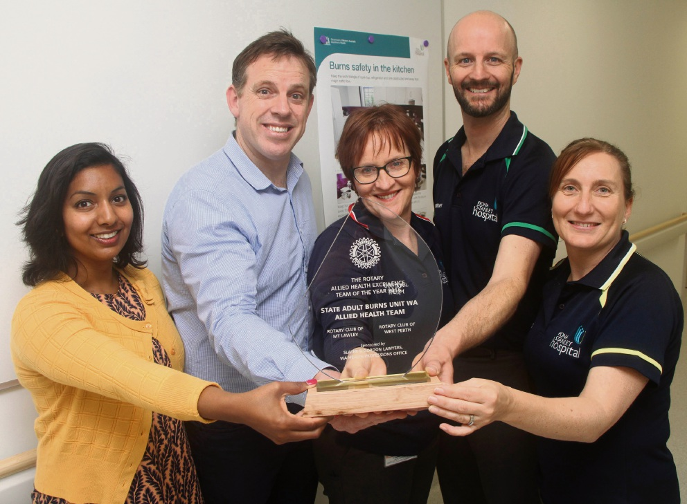 Allied health burns specialists honoured at Rotary Allied Health Awards