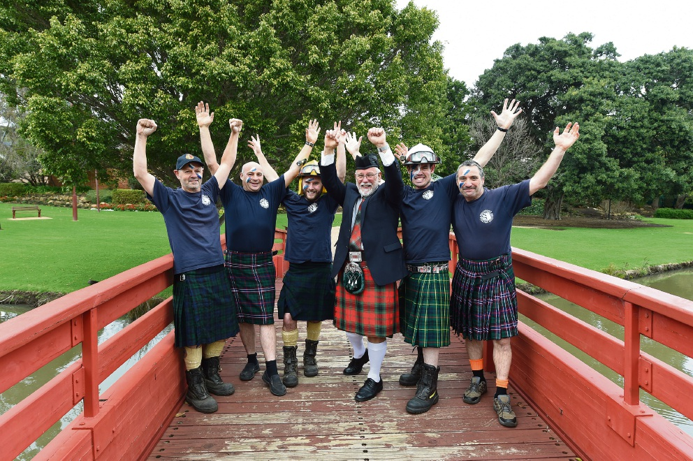 Armadale Mayor Henry Zelones and participants get ready for the annual Perth Kilt Run on September 18.