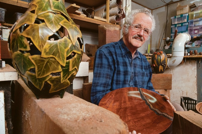Woodturner Jack de Vos  is taking part in the Armadale Hills Open Studio Arts Trail.
