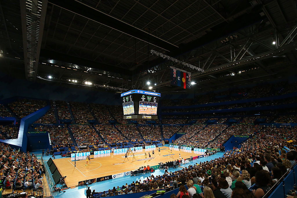 Perth Arena hosted the international Test Match between Australia and New Zealand last year. It will be home to four West Coast Fever games in 2017. Picture: Paul Kane/Getty Images