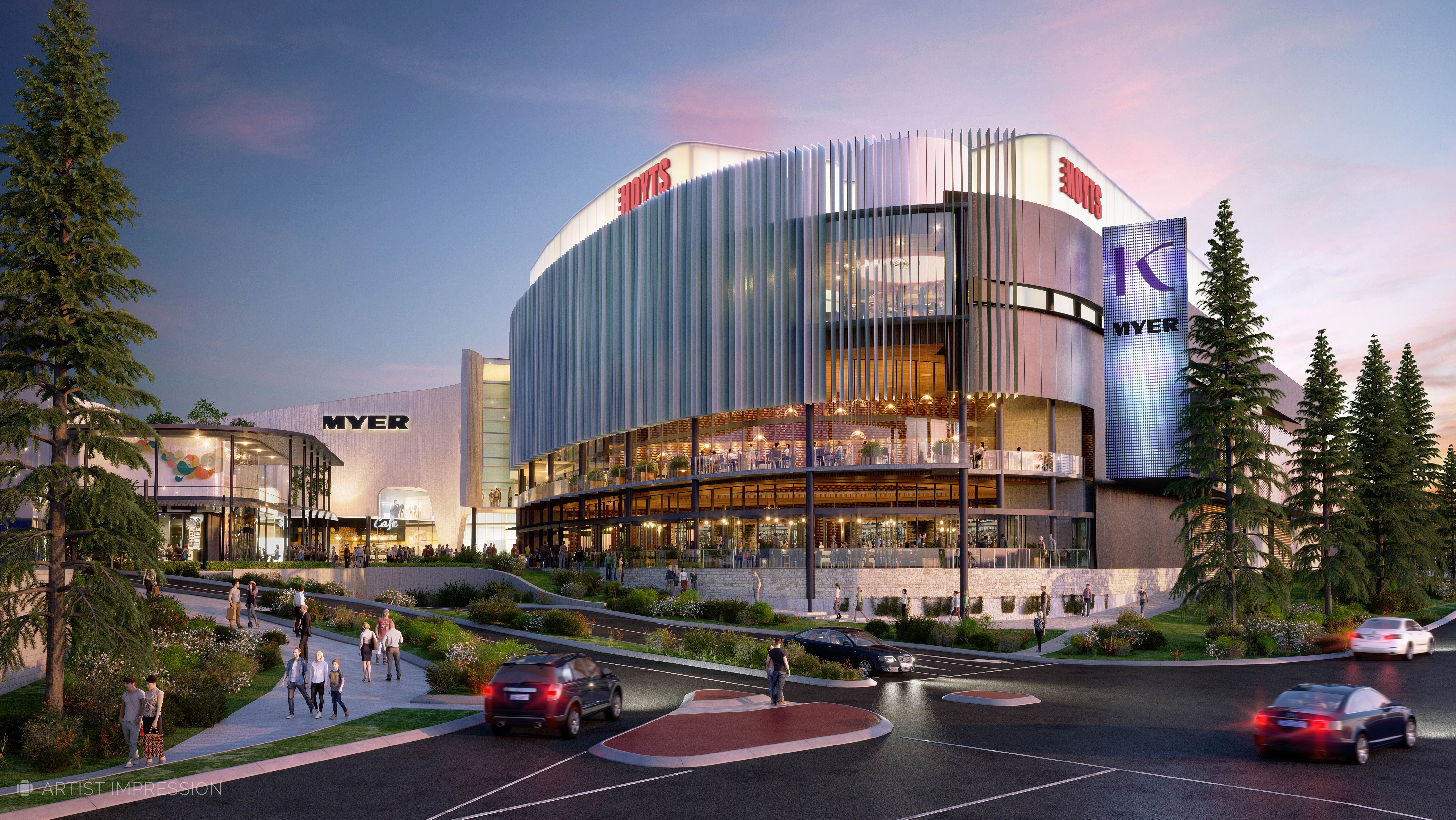 Artist's impression of Karrinyup Shopping Centre's redevelopment.