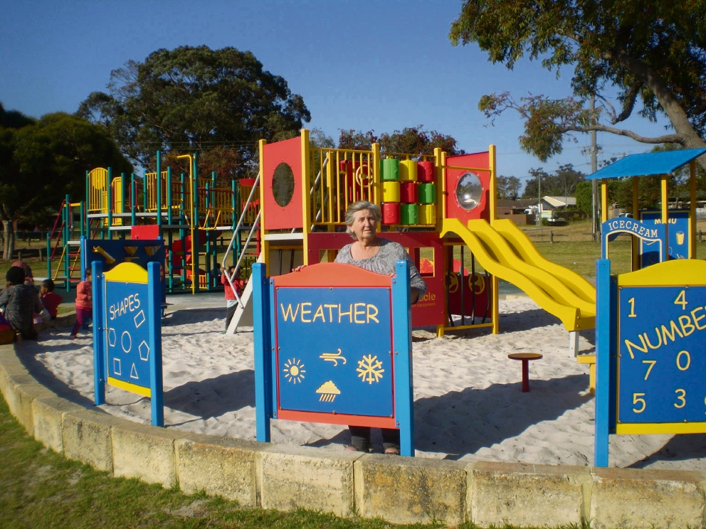 Maureen Roberts at the Blackmore Park playground in Girrawheen.