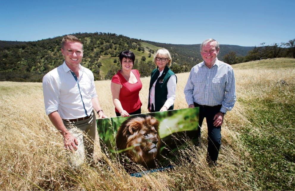 Environment Minister Albert Jacob, East Metropolitan MLC Alyssa Hayden, Perth Zoo CEO Susan Hunt and WA Premier Colin Barnett. Picture: David Baylis        www.communitypix.com.au   d461600
