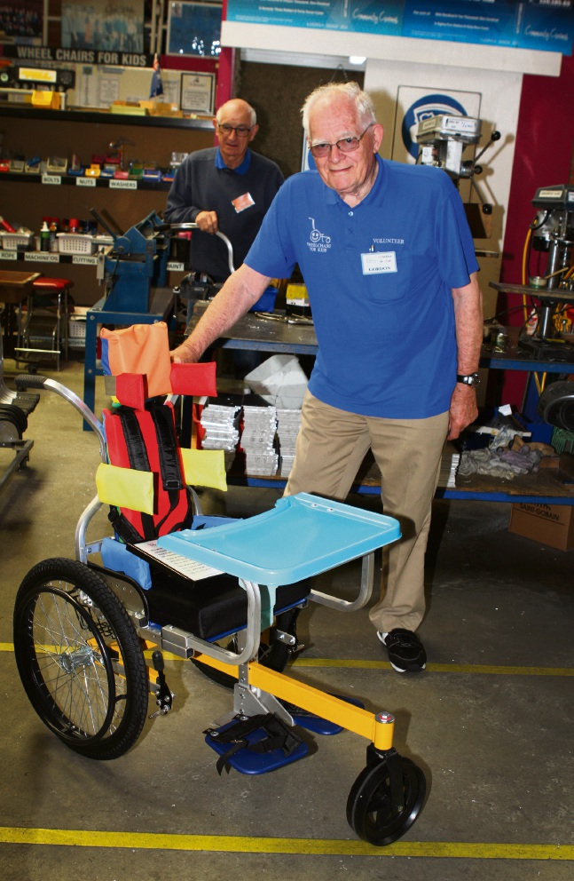Wheelchairs for Kids volunteer chief executive Gordon Hudson. Picture: Robin Kornet