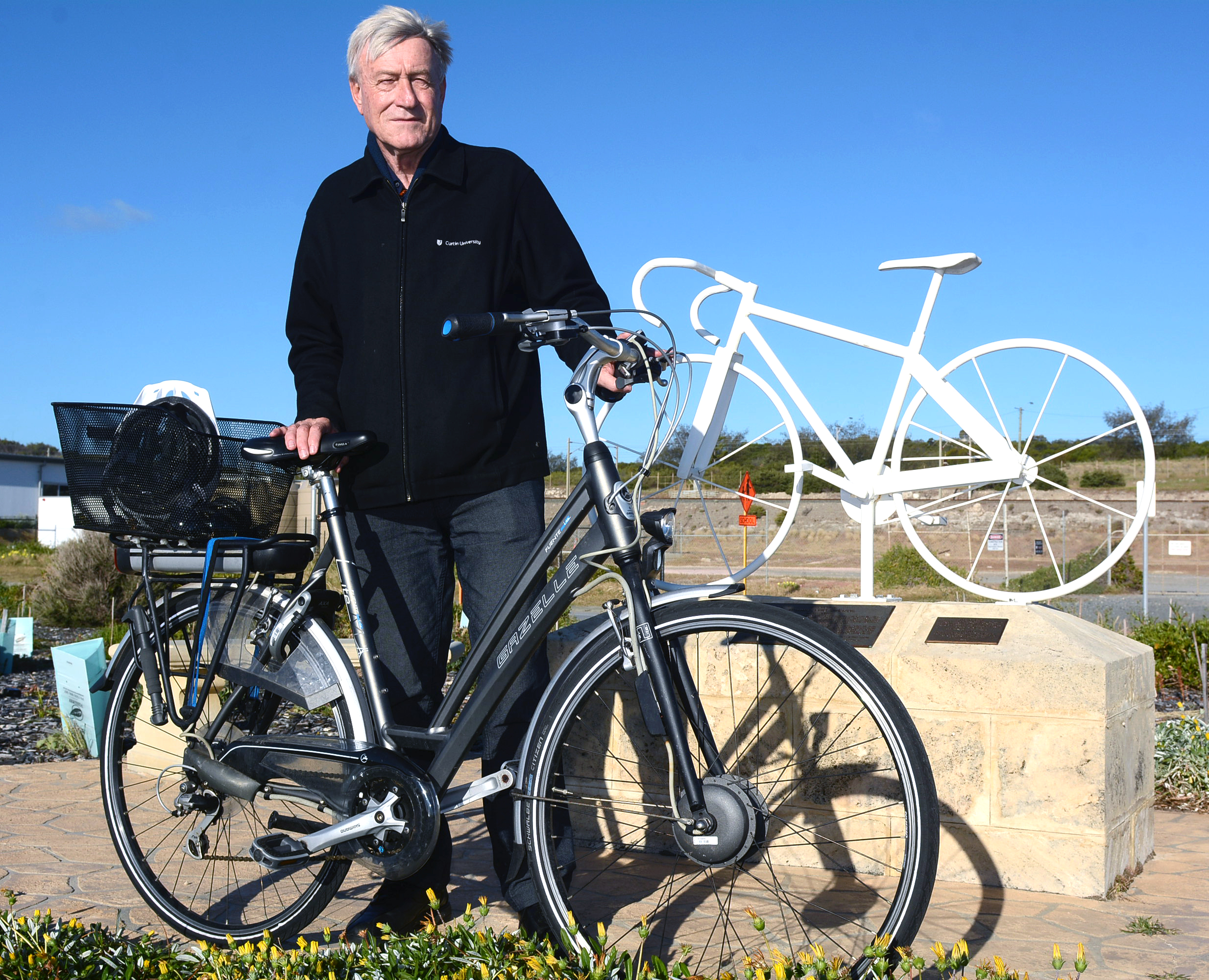 Curtin University professor of sustainability Peter Newman will be on his electric bike for Tim's Ride.
