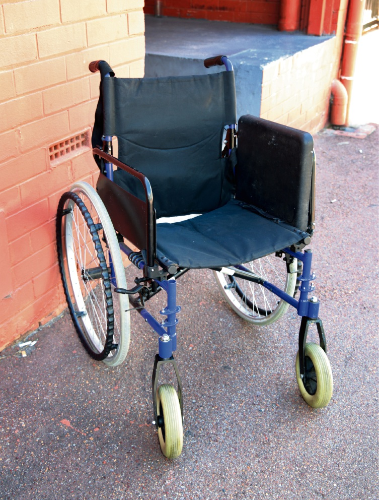 Wheelchair found outside Department of Corrections office in Midland