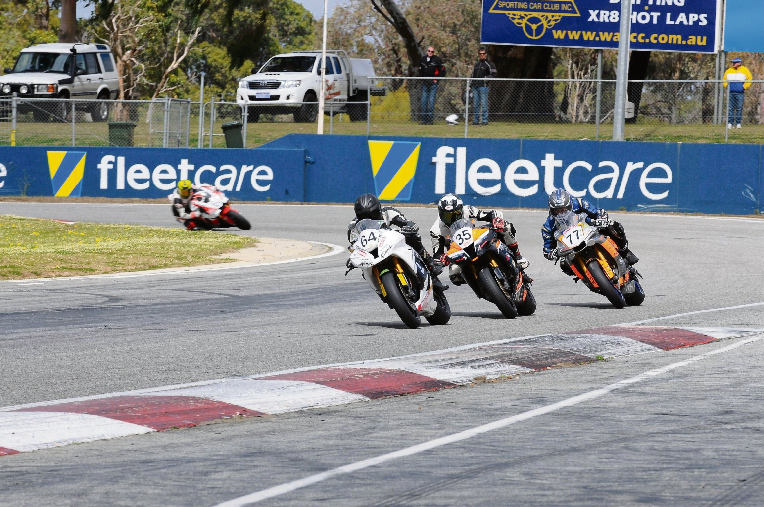 Adam Chambers, Ben Stronach and Adam Senior will battle it out for the superbike King of Wanneroo title.