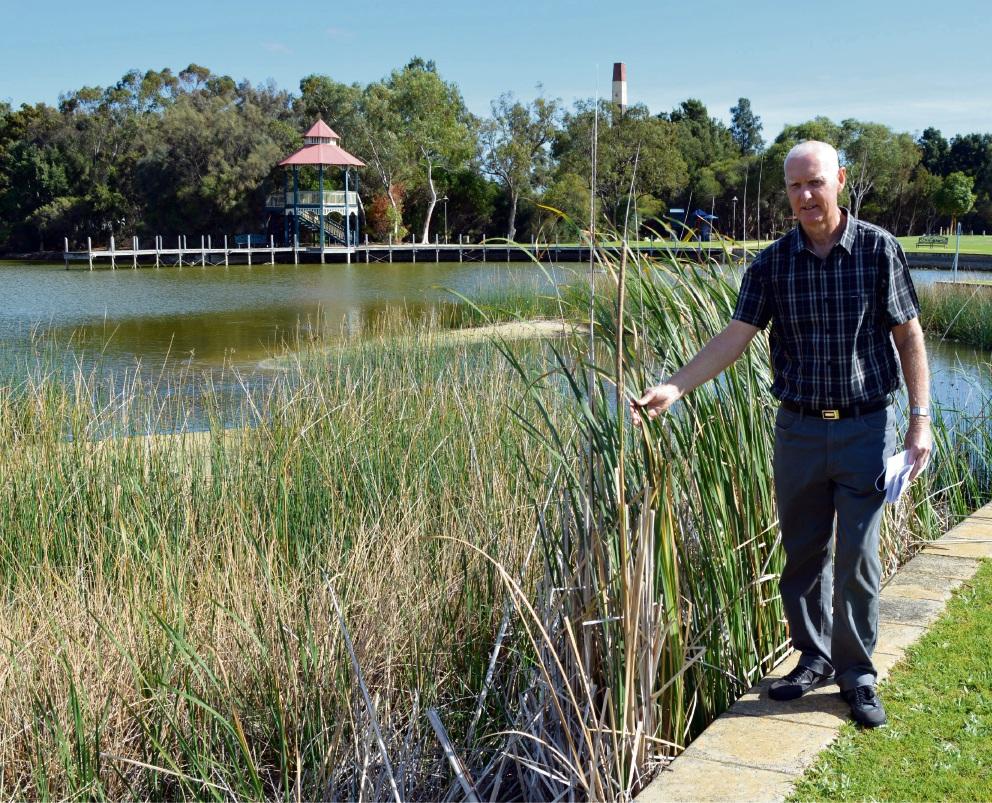 Friends of Maylands Lakes chairman Geoff Trott. Picture: Toyah Shakespeare
