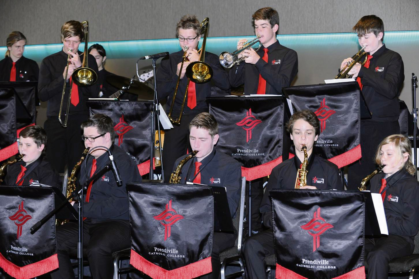 Prendiville Catholic College senior jazz band. Picture: Chris Kershaw