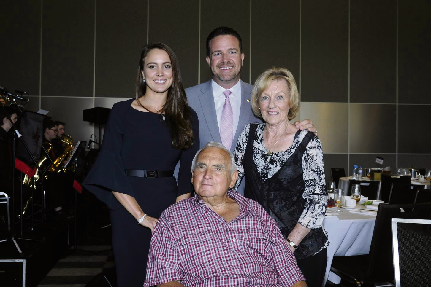 2016 Young Western Australian of the Year and zero2hero founder Ashlee Harrison with her grandparents Ron and Patricia Newton and Joondalup Mayor Troy Pickard. Picture: Chris Kershaw