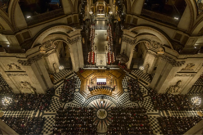 The Tallis Scholars performing in St Paul's Cathedral.