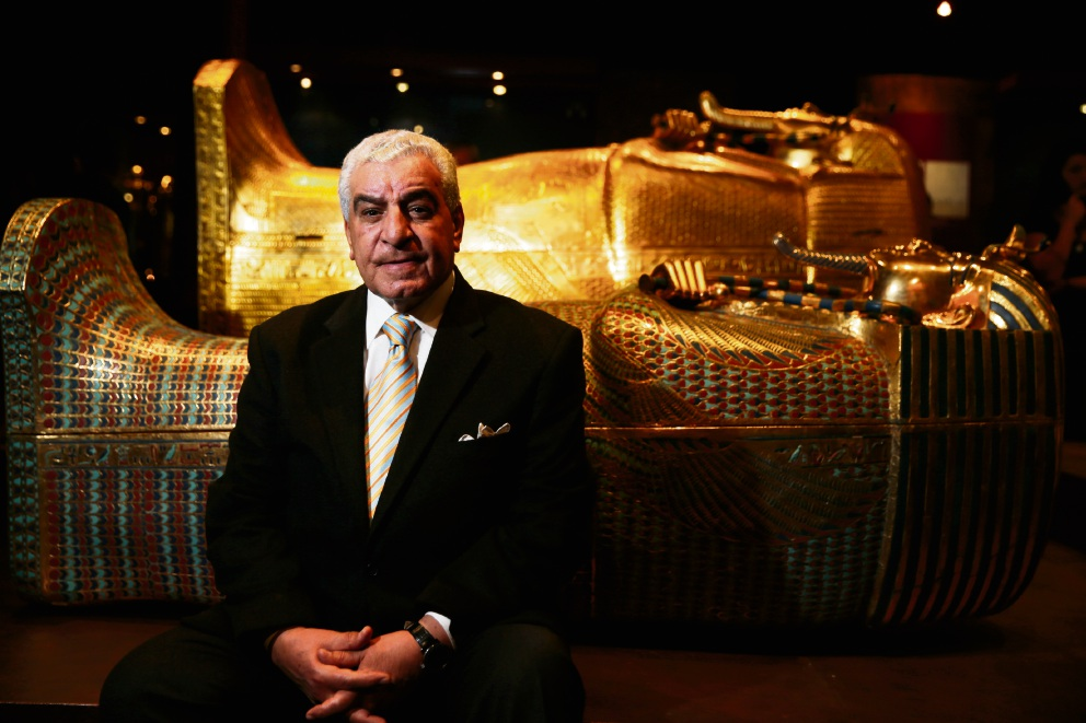 Dr Zahi Hawass at Tutankhamun - His Tomb and His Treasures in Perth. Picture: Andrew Ritchie.