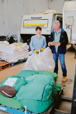 Rotary Club of Mill Point ensures linen is distributed to charities