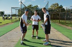 Bassendean Cricket Club's Simon Duca, Nicholas Brenchley and David Morris.