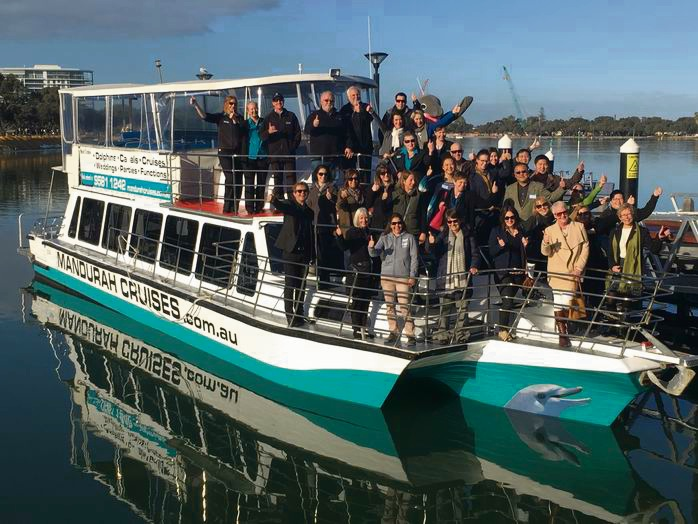 More than 250 key inbound tour operators  were hosted by Mandurah Cruises and MAPTO.