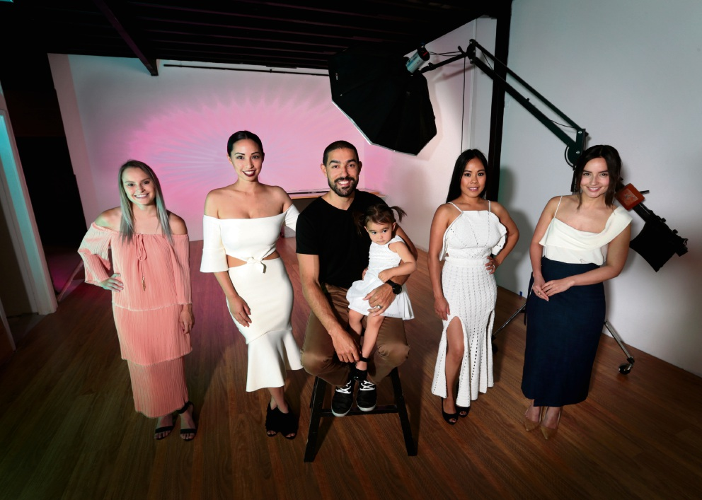 Hannah Lawrance, Yasmin Walter, Boris Walter, Azelia Walter, Jaslyn Schonian and Aniqua Toquero. All styled by Who What Wear Perth. Picture: David Baylis