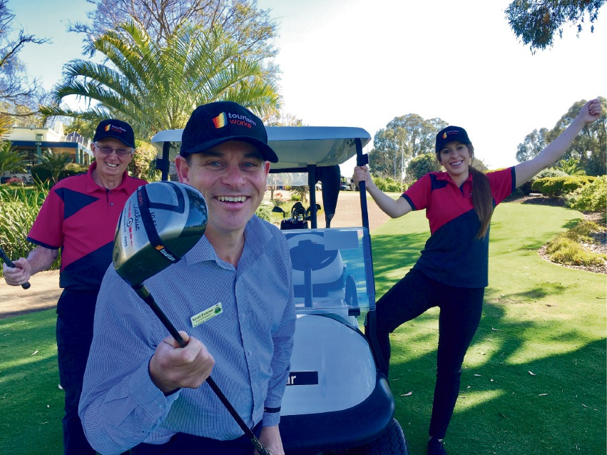 Meadow Springs Golf and Country Club staff Bruce Snow, Scott Proctor and Mackenzie Kyle.