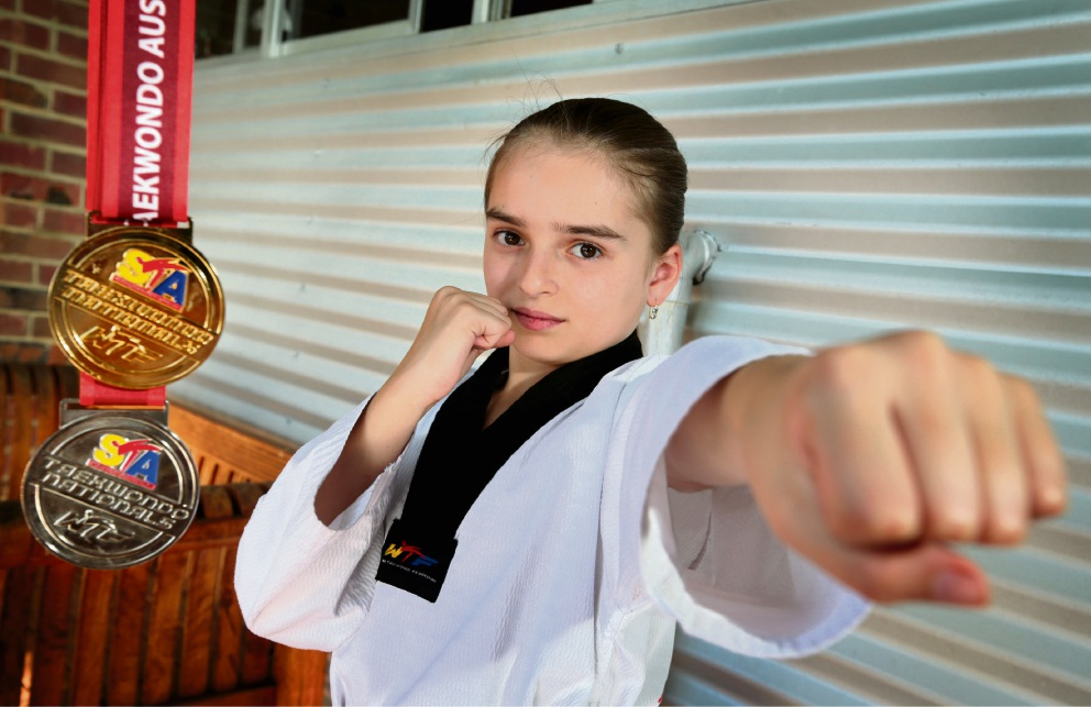 Shante Regnault (9) punches well above her weight. Picture: David Baylis        www.communitypix.com.au   d461609