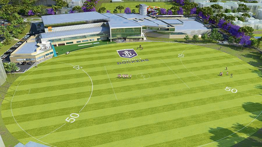 Aerial view of how Cockburn ARC will look when it's finished next year.