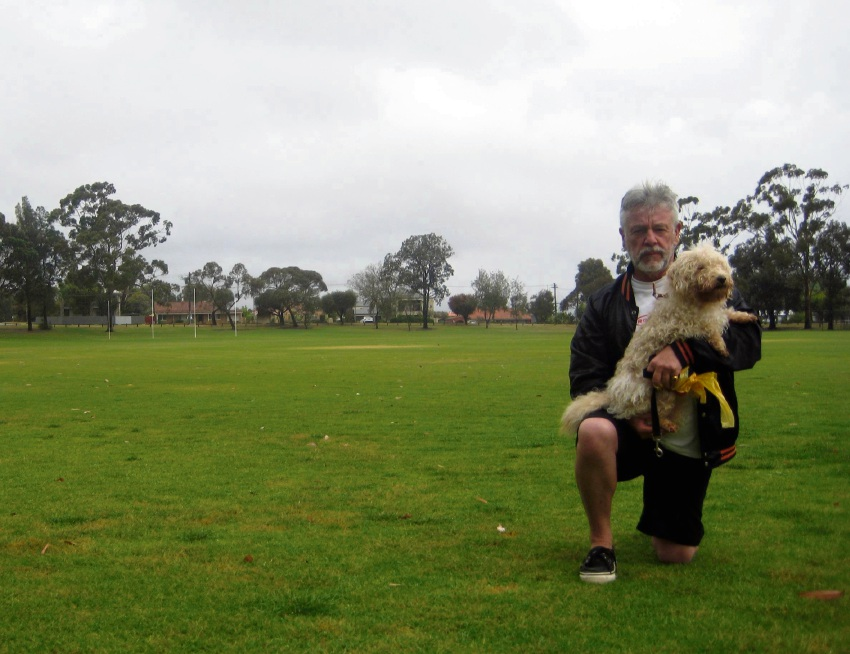 Maylands resident Gareth Davies at De Lacy Reserve.