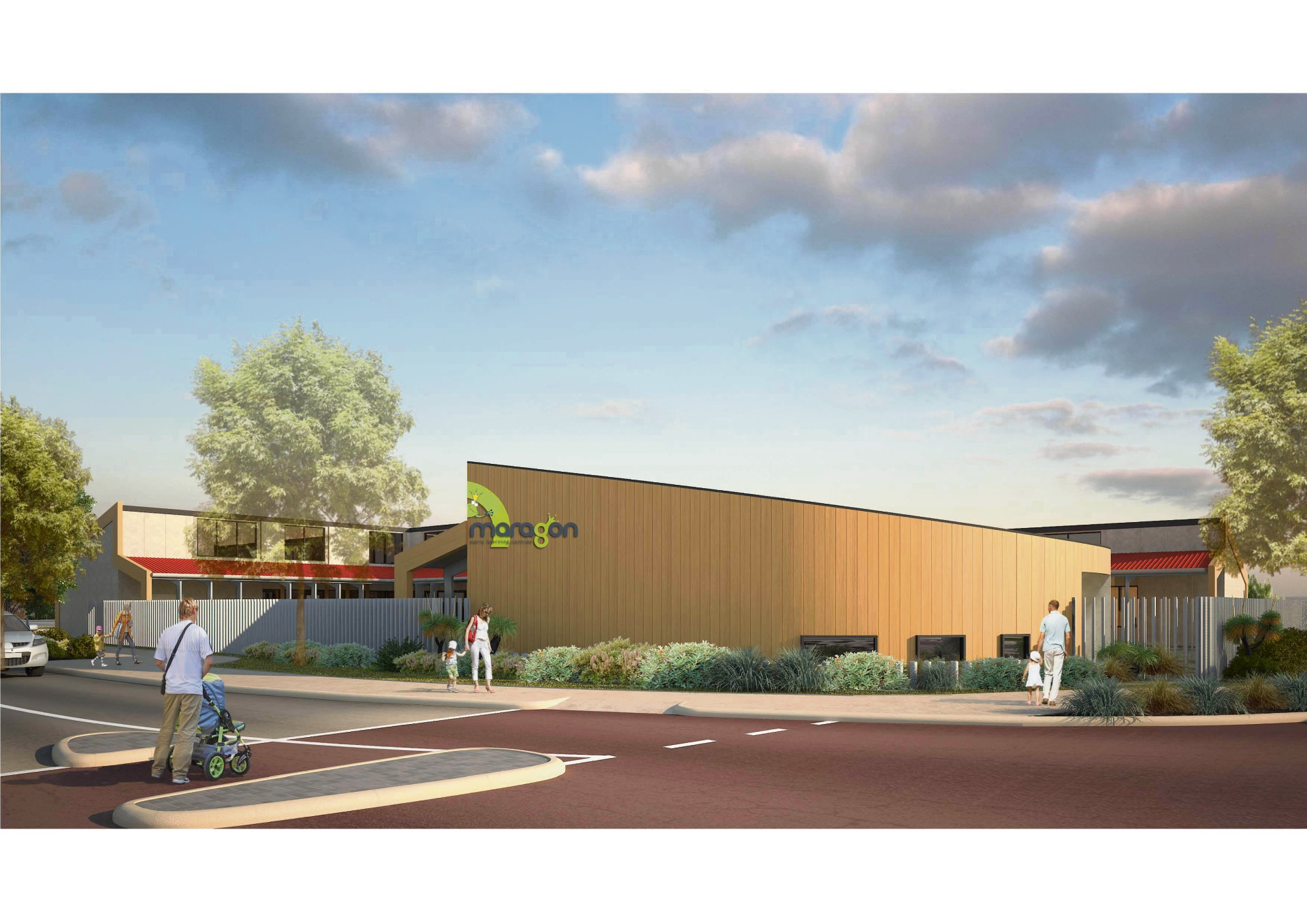 An artist's impression of the new early learning centre.