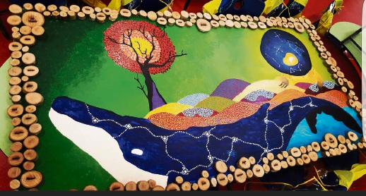 Woodvale Year 6 students paint parting gift with artist Lauren Tarver