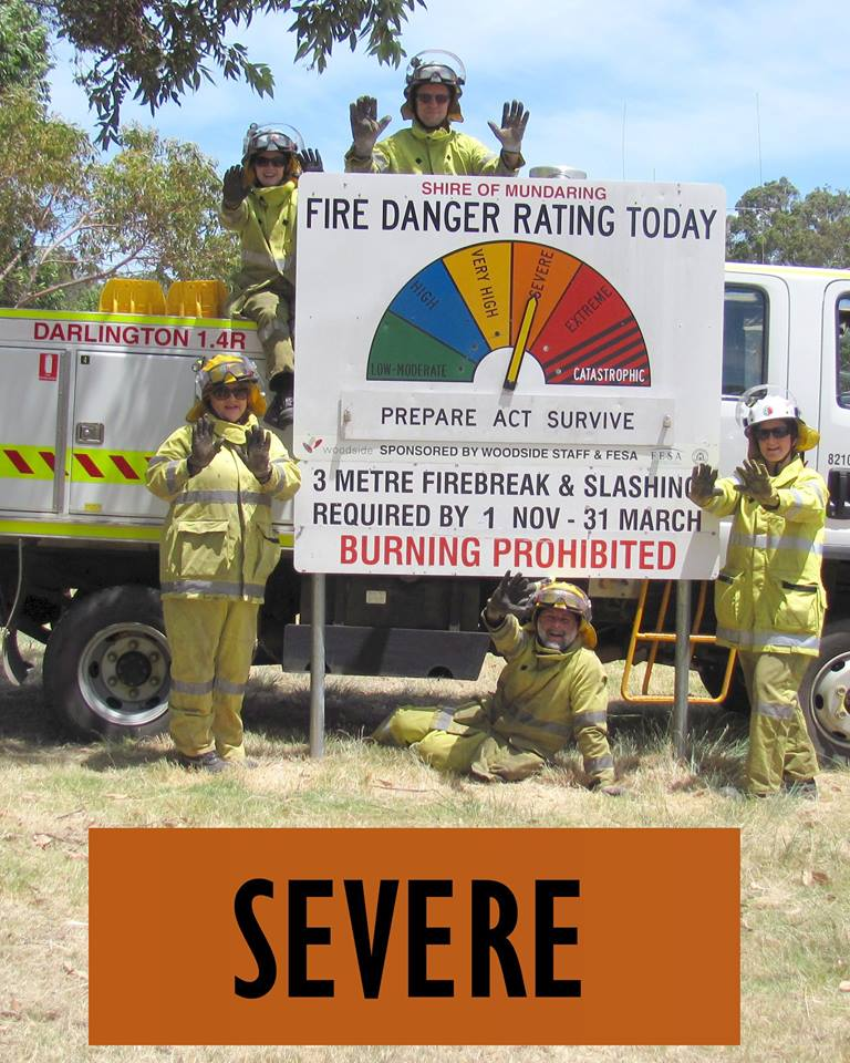Severe fire rating for Perth Hills today