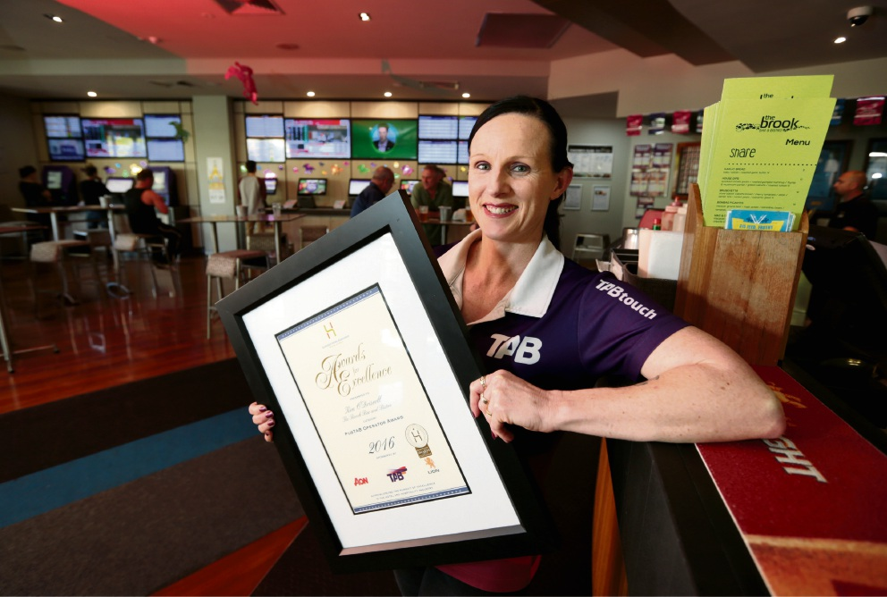 Kim O'Driscoll, winner of the 2016 PubTab Operator of the Year at The Brook Bar and Bistro in Ellenbrook.  Picture: David Baylis  d461883