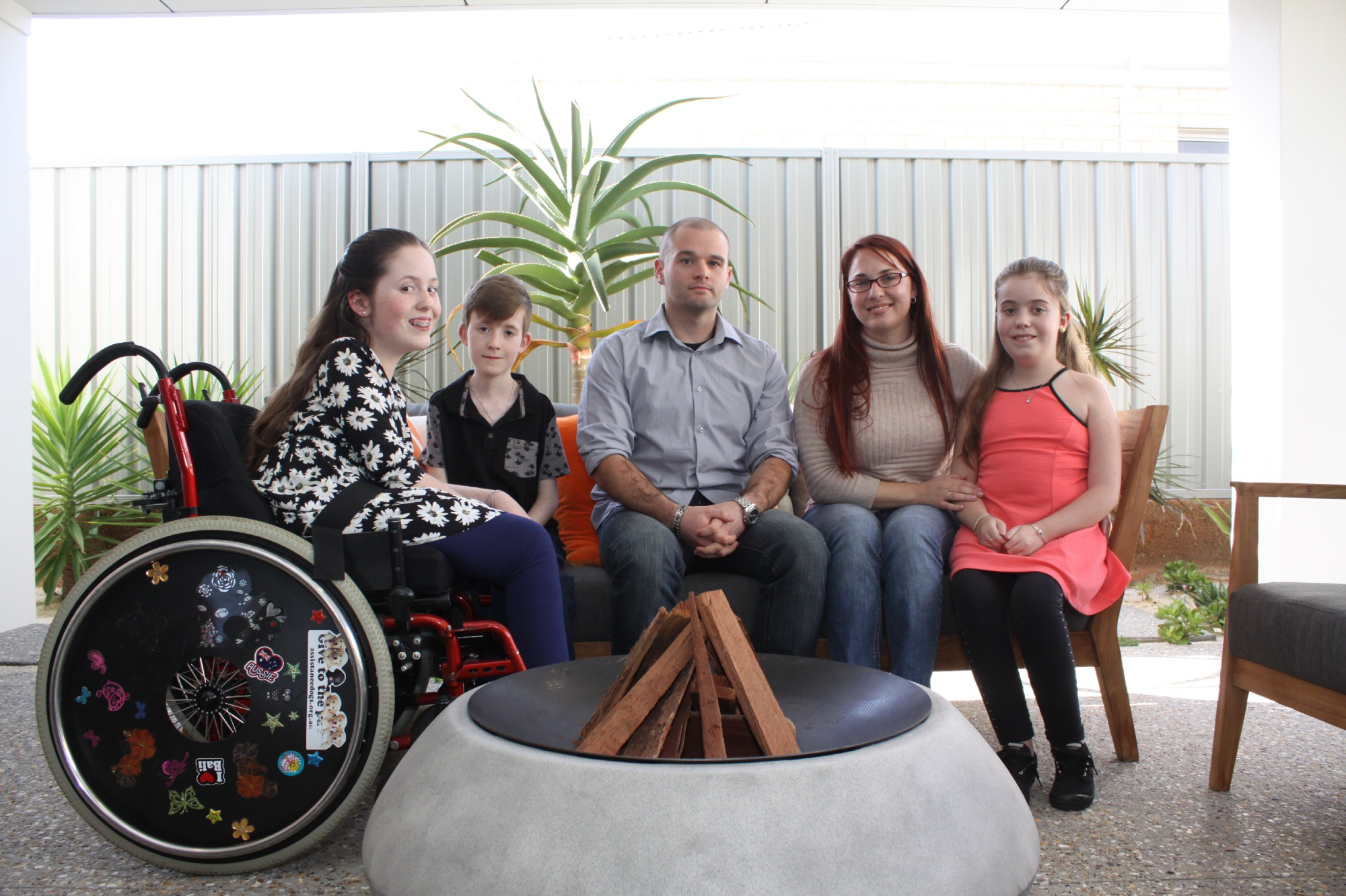 Still feeling shell shocked, Robbie Hobson took some time out with Lottery of Choice ambassadors, the Topham children who all have Muscular Dystrophy: Jamie Topham (12), Scott (8) Robbie Hobson, Terri Wagner and Hayley (10) Topham.