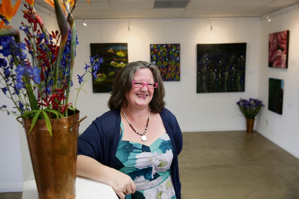 Paralympic gold medal winner, Swimming Hall of Fame inductee, Sandra Yaxley (OAM) is presenting her first ever gallery opening, Wakes and Petals. Picture: Andrew Ritchie