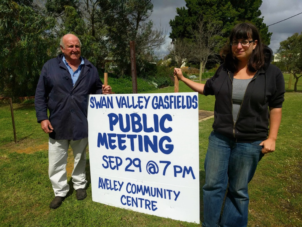 Public meetings to be held in Aveley and Muchea to disucss gasfields risk