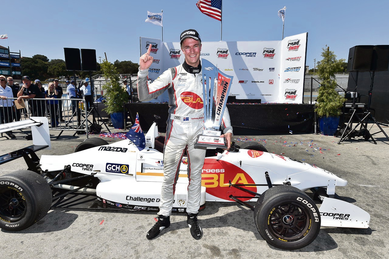 Anthony Hamilton has taken another step towards the Indycar series.