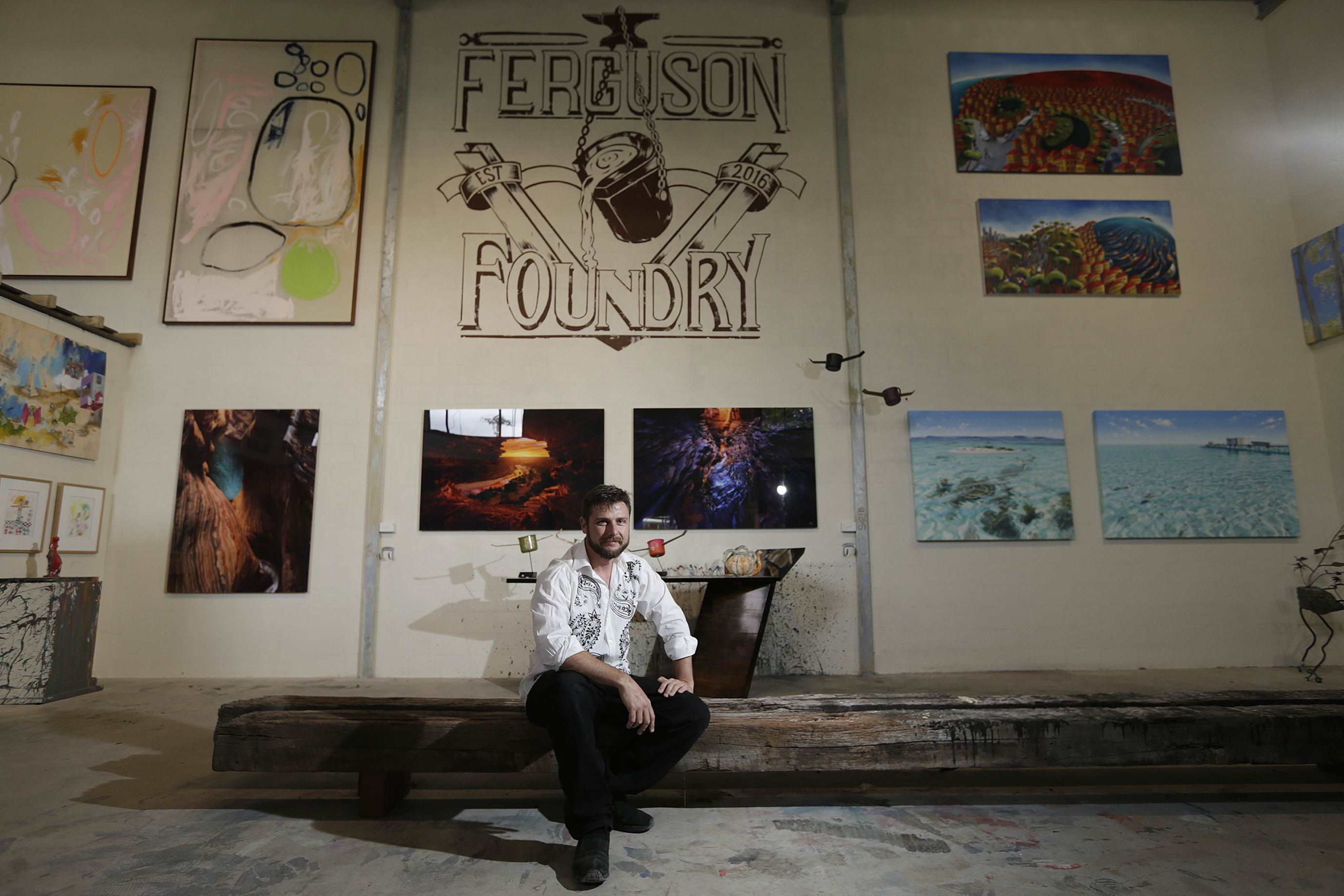 Leo Flavel has built a second studio from scratch next to their current site in Maylands