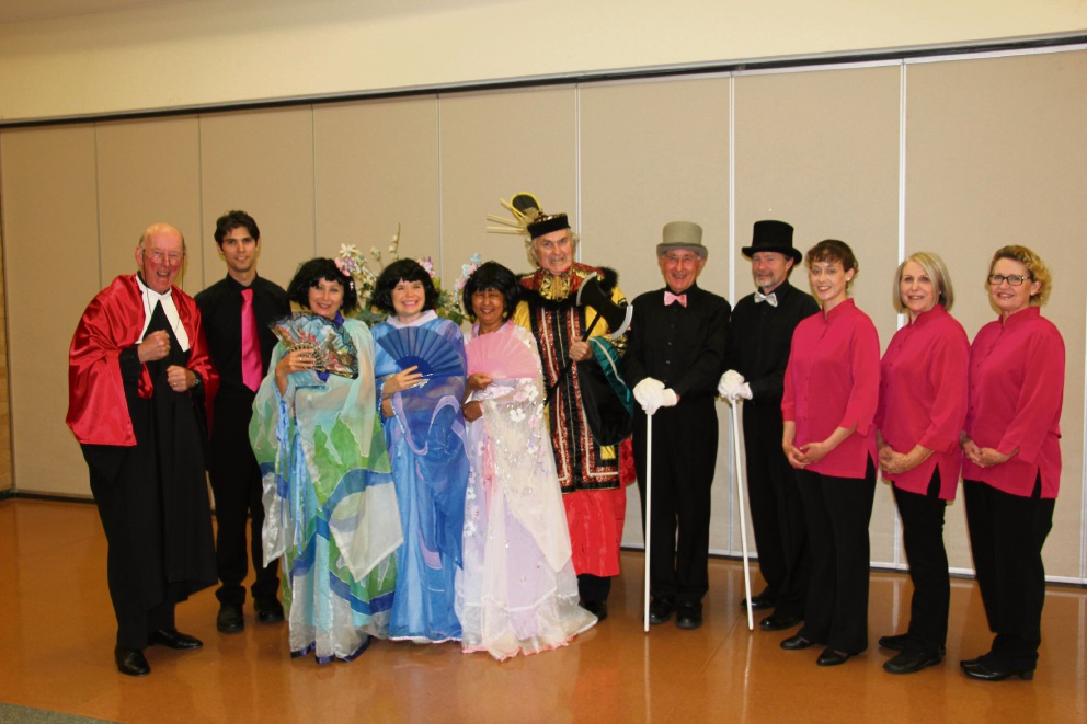 Members of Wanneroo Civic Choir in their uniforms and costumes for the 2016 annual spring concert.