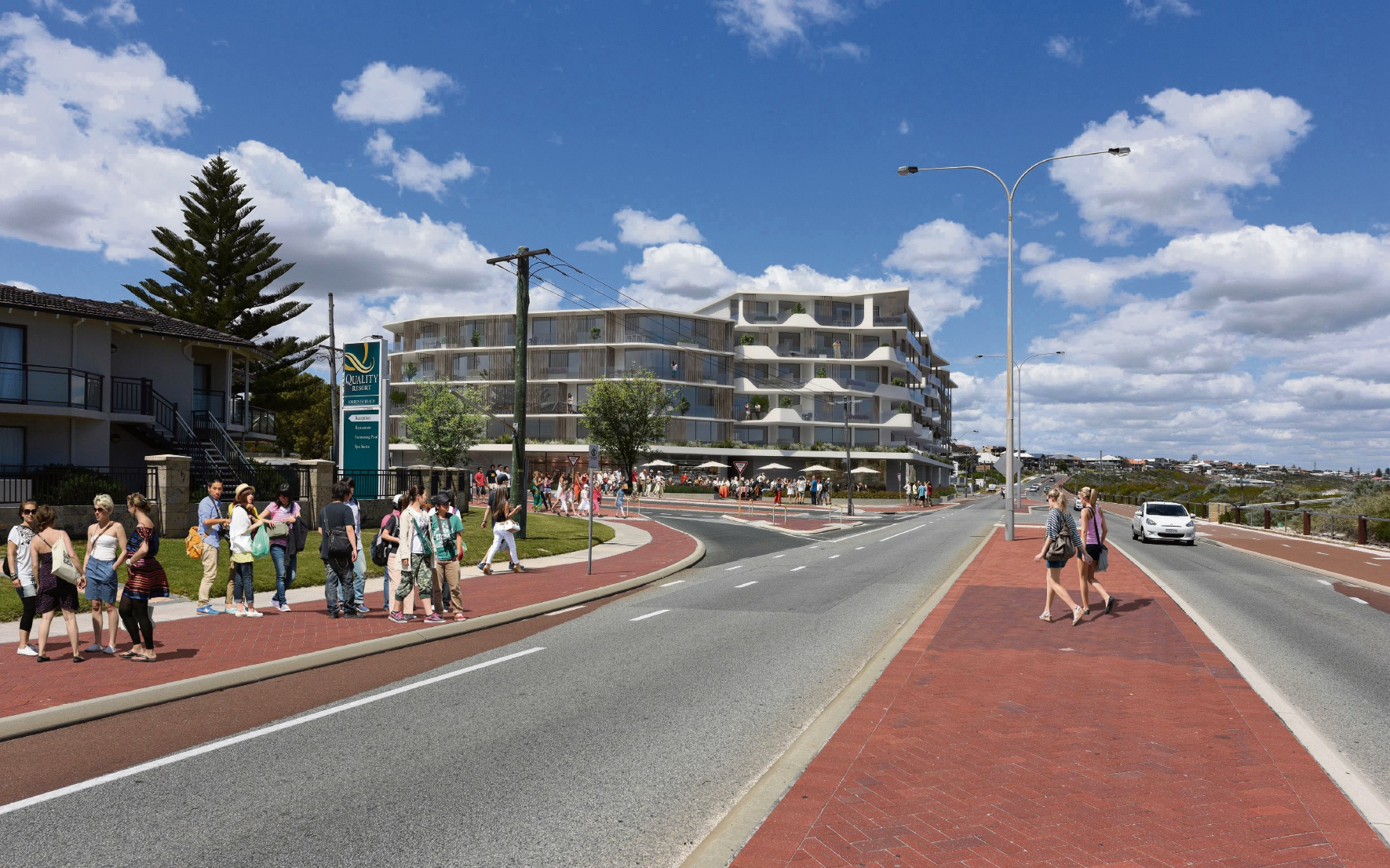 The developer's artist impression of Sorrento Plaza from The Plaza.