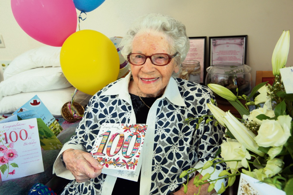 Winnifred Bradley celebrated her 100th birthday last Sunday. Picture: Bruce Hunt www.communitypix.com.au   d461563