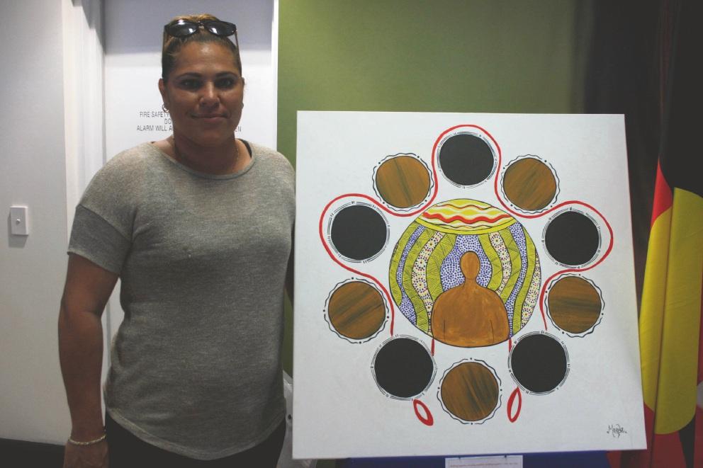Peta Ugle and her award-winning work.