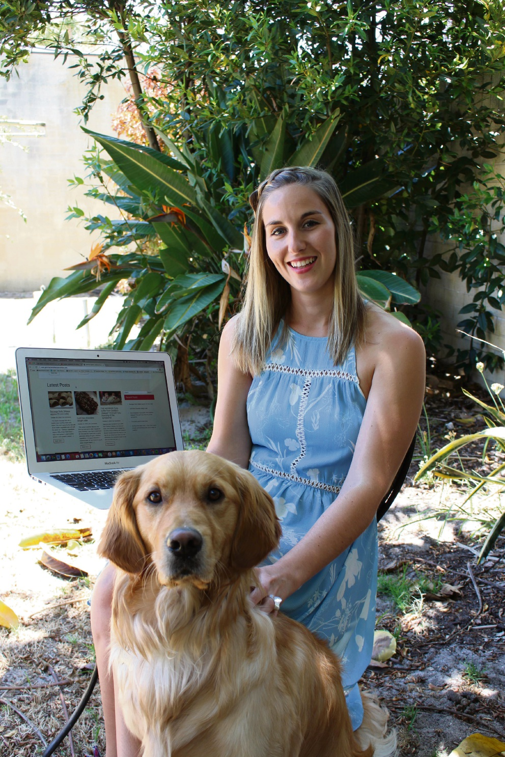 Myth buster: Curtin University nutrition student Gemma Craven with her dog Loki.  Picture: Jaime Shurmer