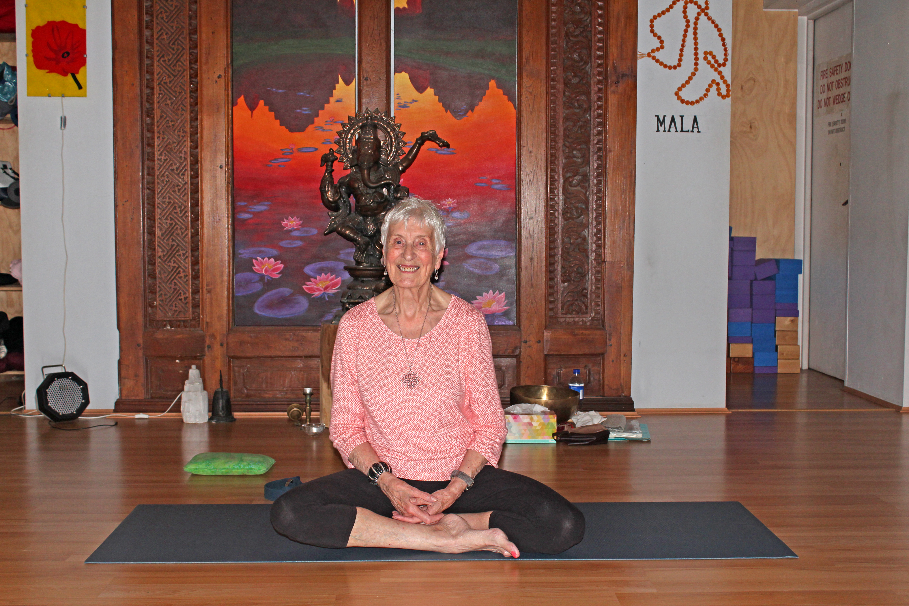 84-year-old Claremont yoga teacher proves age no barrier to healthy mind and body