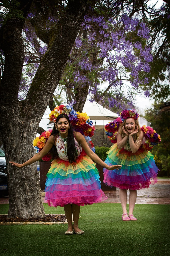 Priyanka Sivabalan as Fairy Pri and Chloe Rendell as Fairy Chloe. Picture: Will Russell        www.communitypix.com.au   d462047