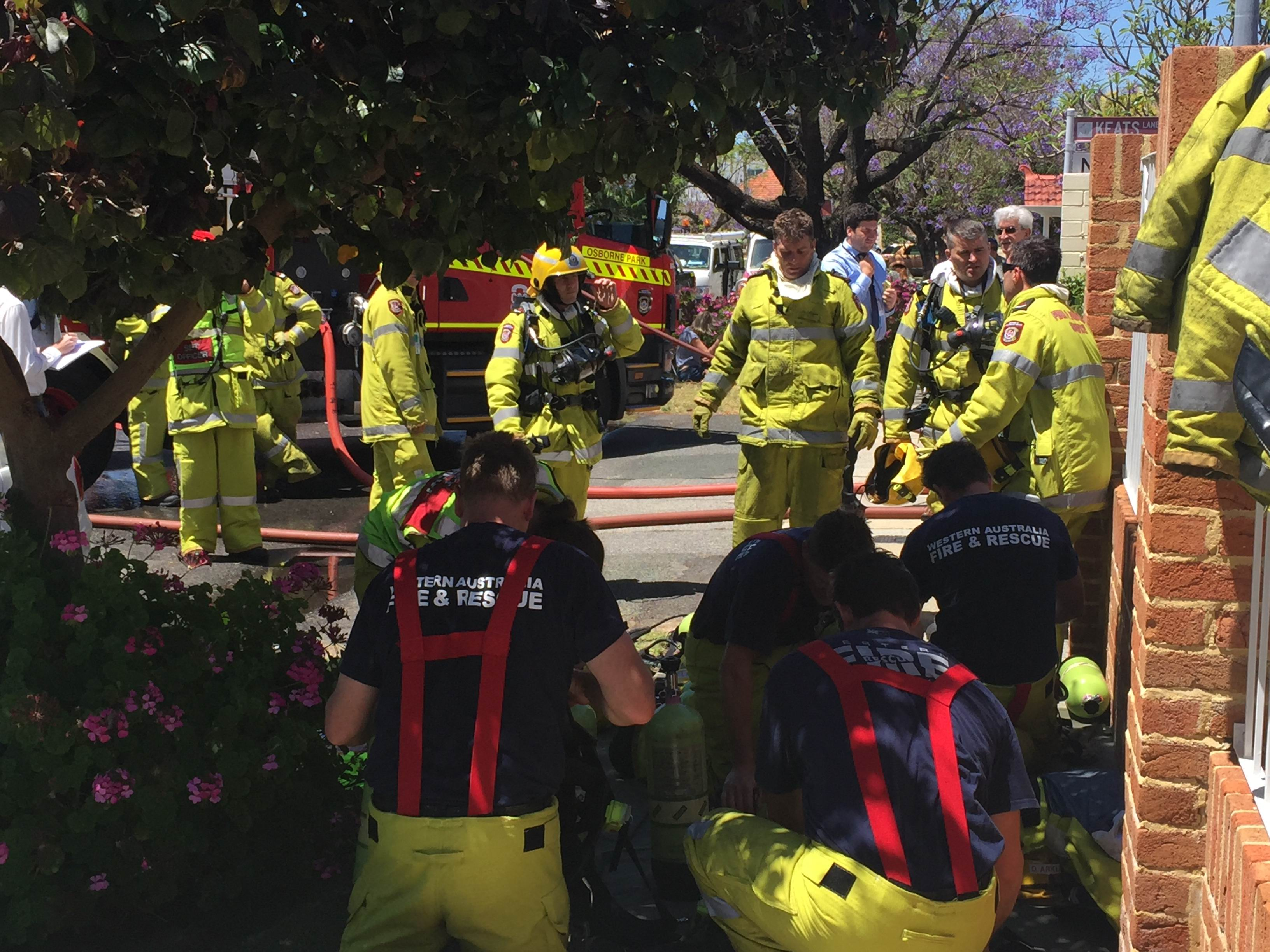 More than 20 fire fighters attended the blaze. Photo: Andrew Ritchie