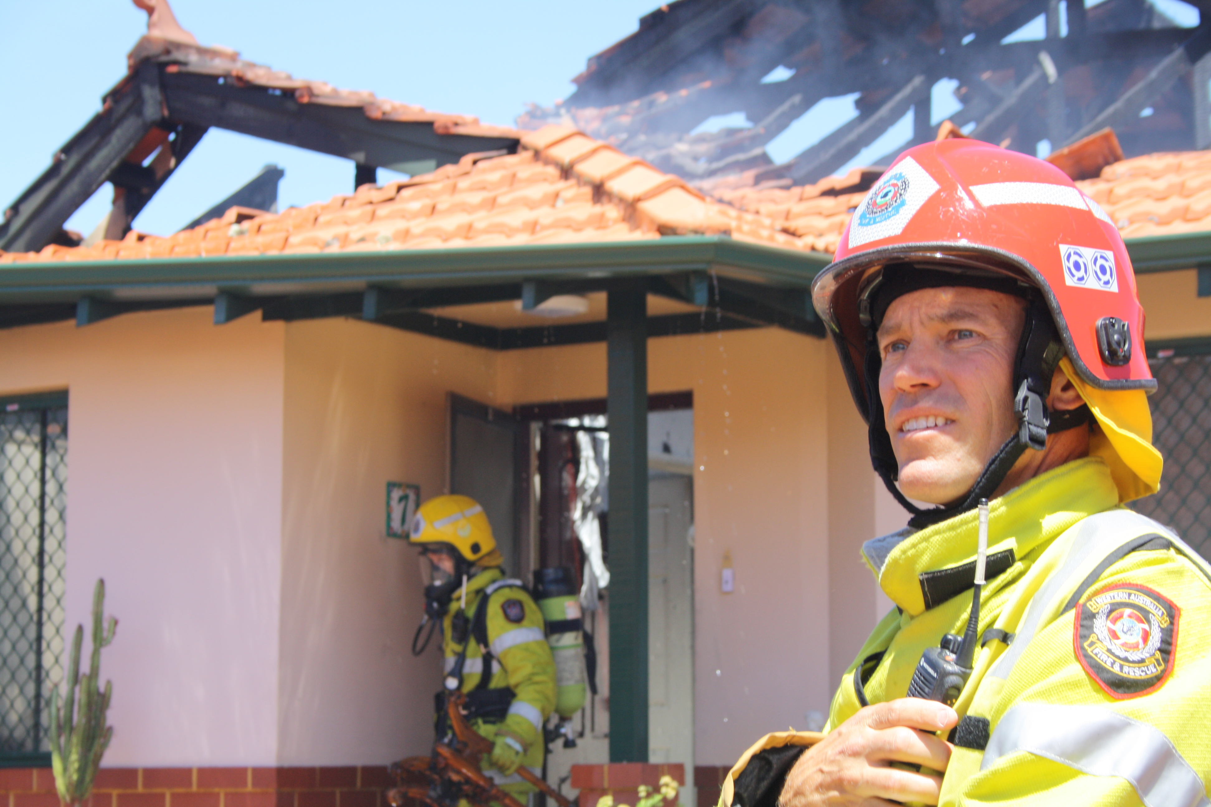 More than 20 fire fighters attended the blaze. Photo: Giovanni Torre
