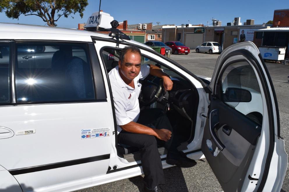 Taxi driver Rod Seneque. Picture: Kristie Lim