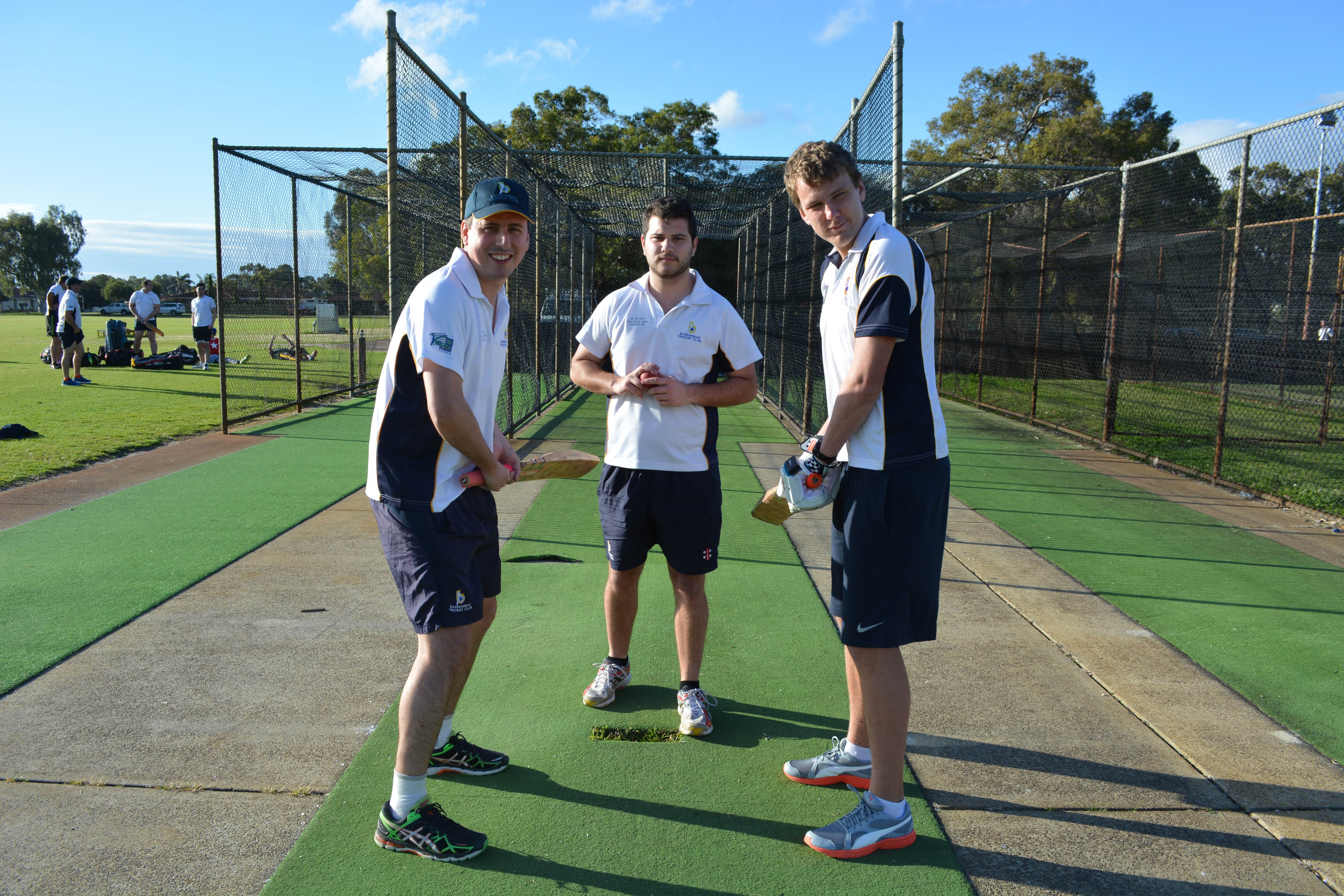 Bassendean Cricket Club's Simon Duca, Nicholas Brenchley and David Morris.