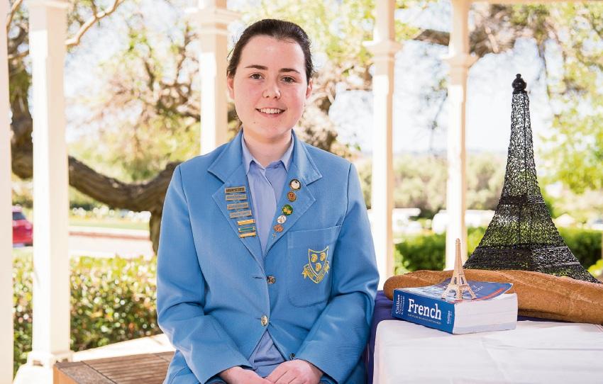 St Hilda's student Celeste Kalnenas is Paris-bound.