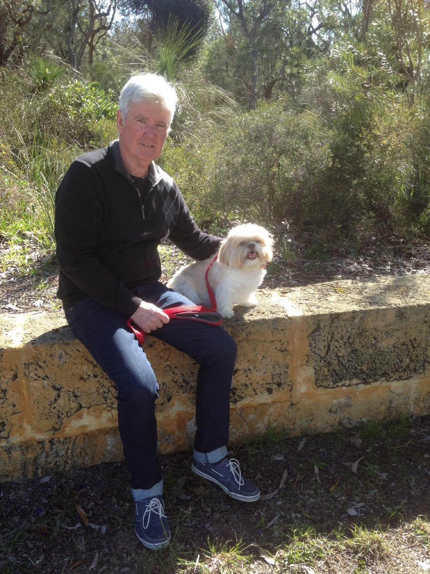 Mike Barry with Shih Tzu George.
