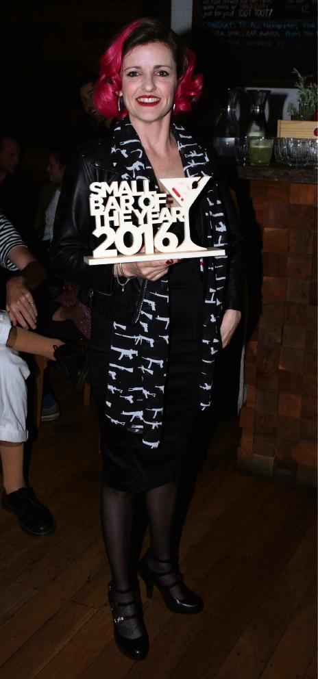 Gillian Kady at the Small Bar Awards.