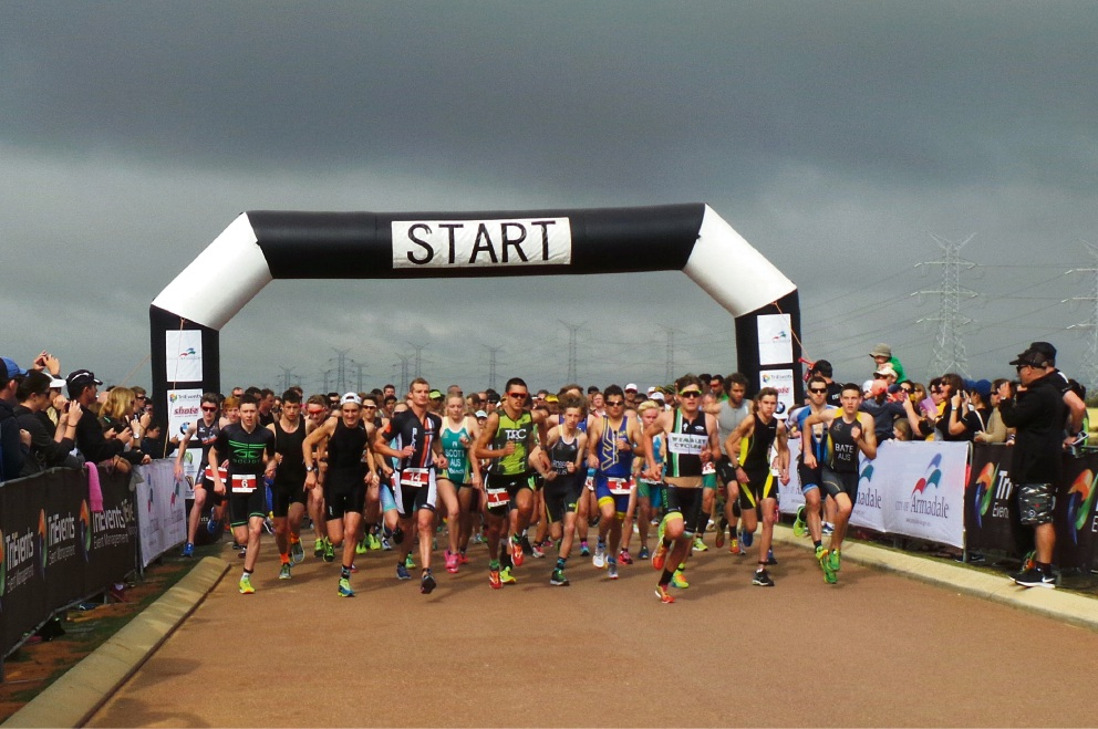 A big crowd will take on the Duathlon at Champion Lakes this weekend.