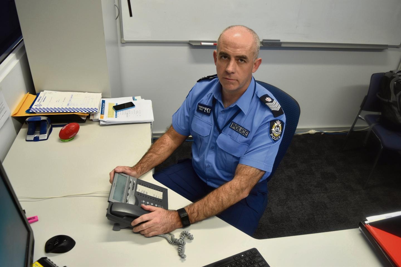 Mandurah officer in charge Senior Sergeant Stephen Thompson says do not call. Picture: Rachel Fenner