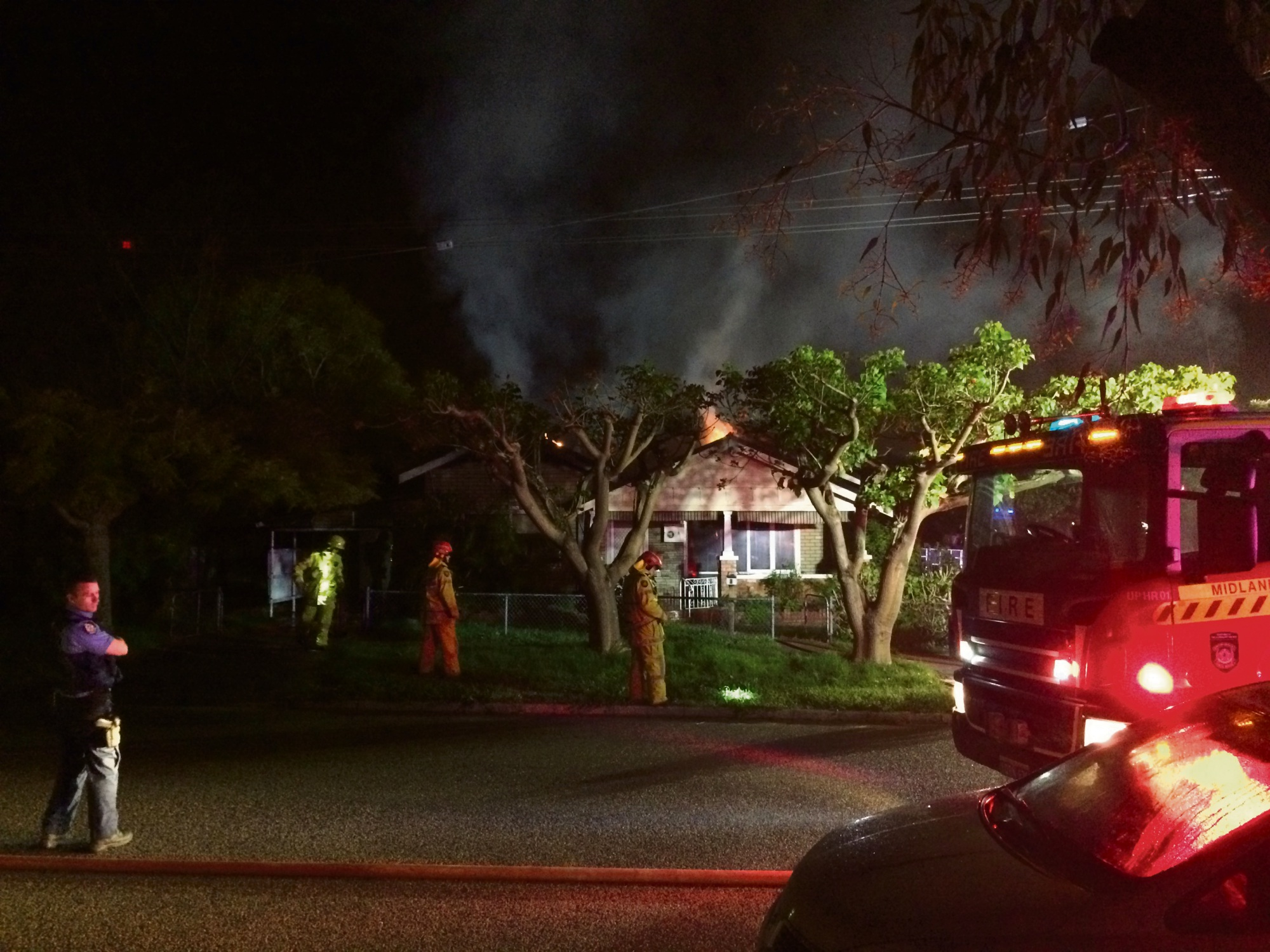 Woodbridge: arson squad detectives investigating house fire